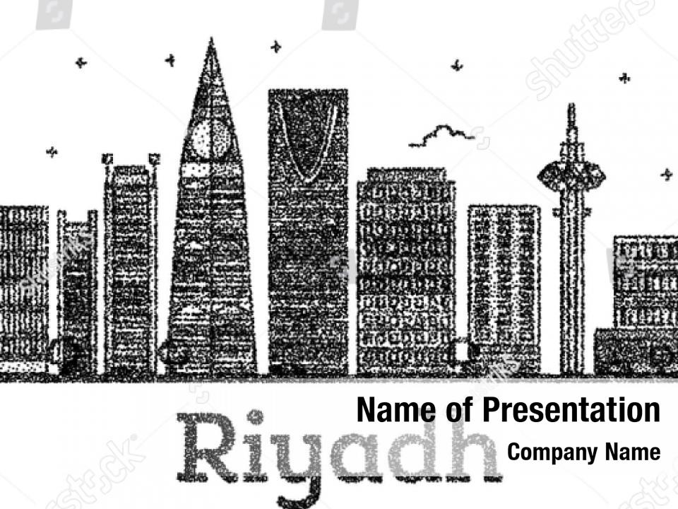 Engraved riyadh PowerPoint Template - Engraved riyadh