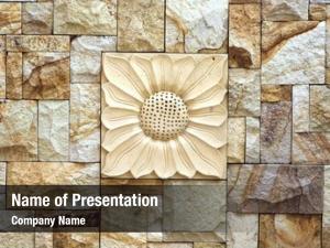 Stone sunflower motif