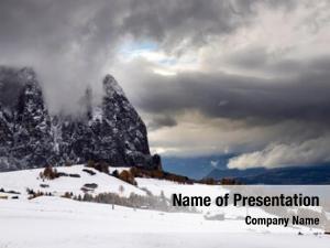 Mountains beautful snowy alpe siusi,