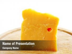 Swiss piece fresh cheese wooden
