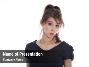 Face pensive doubtful female teenager