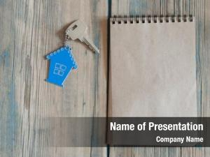 Property silver blank notebook