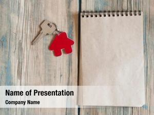 Silver blank notebook metal key