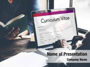 Biography curriculum vitae form concept