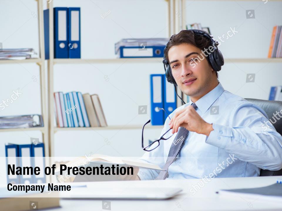 Communication operator call center PowerPoint Template