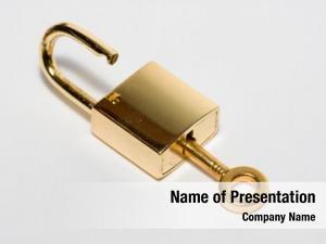 Golden golden key lock