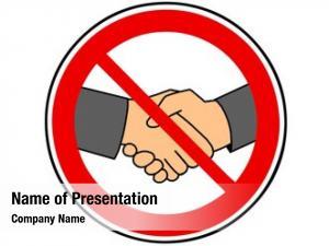 Prohibited handshake handshake sign due