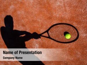 Shadow of a tennis