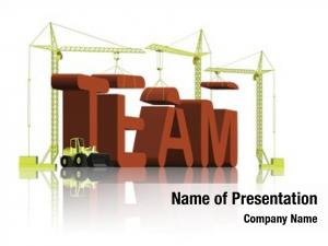Constructing tower cranes word team