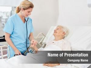 Bedside nurse stethoscope senior nurse